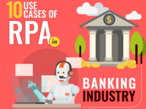 RPA banking use cases infograhic
