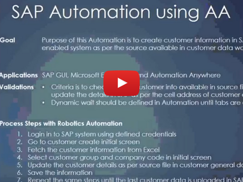 SAP Automation Using AA