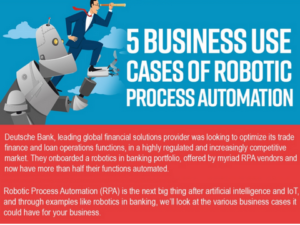 Business Use Cases of RPA